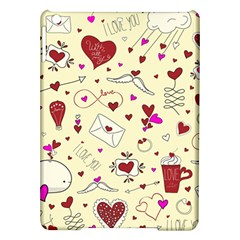Valentinstag Love Hearts Pattern Red Yellow iPad Air Hardshell Cases