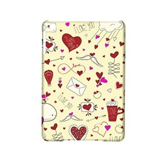 Valentinstag Love Hearts Pattern Red Yellow iPad Mini 2 Hardshell Cases