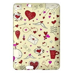 Valentinstag Love Hearts Pattern Red Yellow Kindle Fire HDX Hardshell Case