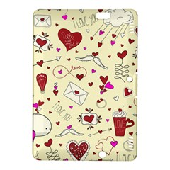 Valentinstag Love Hearts Pattern Red Yellow Kindle Fire HDX 8.9  Hardshell Case