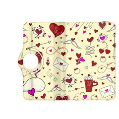 Valentinstag Love Hearts Pattern Red Yellow Kindle Fire HDX 8.9  Flip 360 Case