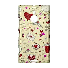 Valentinstag Love Hearts Pattern Red Yellow Nokia Lumia 1520