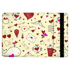 Valentinstag Love Hearts Pattern Red Yellow iPad Air Flip