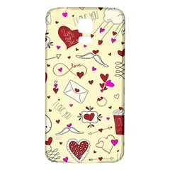 Valentinstag Love Hearts Pattern Red Yellow Samsung Galaxy S5 Back Case (White)