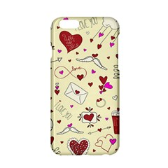 Valentinstag Love Hearts Pattern Red Yellow Apple iPhone 6/6S Hardshell Case