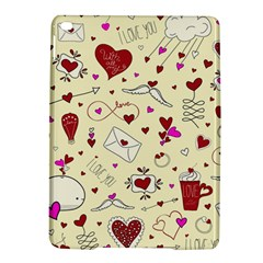 Valentinstag Love Hearts Pattern Red Yellow iPad Air 2 Hardshell Cases