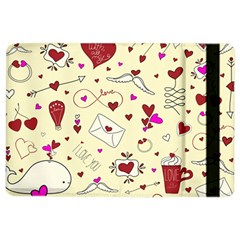 Valentinstag Love Hearts Pattern Red Yellow iPad Air 2 Flip