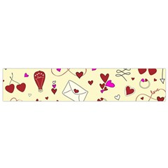 Valentinstag Love Hearts Pattern Red Yellow Flano Scarf (Small)