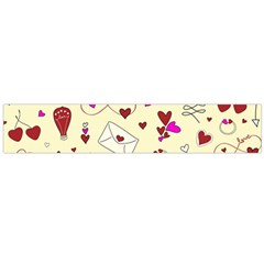 Valentinstag Love Hearts Pattern Red Yellow Flano Scarf (Large)