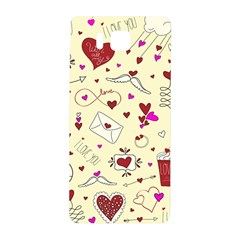 Valentinstag Love Hearts Pattern Red Yellow Samsung Galaxy Alpha Hardshell Back Case