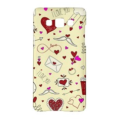 Valentinstag Love Hearts Pattern Red Yellow Samsung Galaxy A5 Hardshell Case