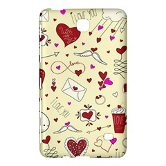 Valentinstag Love Hearts Pattern Red Yellow Samsung Galaxy Tab 4 (7 ) Hardshell Case