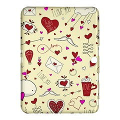 Valentinstag Love Hearts Pattern Red Yellow Samsung Galaxy Tab 4 (10.1 ) Hardshell Case
