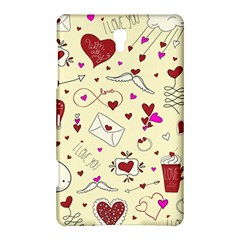 Valentinstag Love Hearts Pattern Red Yellow Samsung Galaxy Tab S (8.4 ) Hardshell Case