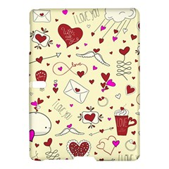 Valentinstag Love Hearts Pattern Red Yellow Samsung Galaxy Tab S (10.5 ) Hardshell Case
