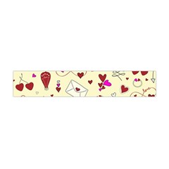 Valentinstag Love Hearts Pattern Red Yellow Flano Scarf (Mini)