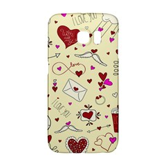 Valentinstag Love Hearts Pattern Red Yellow Galaxy S6 Edge