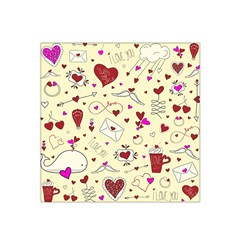 Valentinstag Love Hearts Pattern Red Yellow Satin Bandana Scarf
