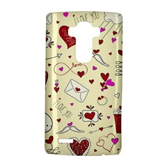 Valentinstag Love Hearts Pattern Red Yellow LG G4 Hardshell Case