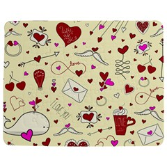 Valentinstag Love Hearts Pattern Red Yellow Jigsaw Puzzle Photo Stand (Rectangular)