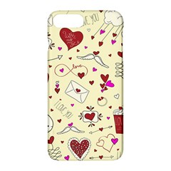 Valentinstag Love Hearts Pattern Red Yellow Apple Iphone 7 Plus Hardshell Case