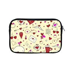 Valentinstag Love Hearts Pattern Red Yellow Apple MacBook Pro 13  Zipper Case