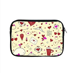 Valentinstag Love Hearts Pattern Red Yellow Apple Macbook Pro 15  Zipper Case