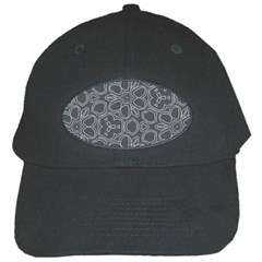 Floral pattern Black Cap