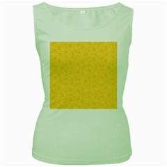 Floral pattern Women s Green Tank Top
