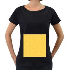 Floral pattern Women s Loose-Fit T-Shirt (Black)