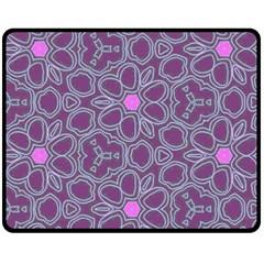 Floral pattern Fleece Blanket (Medium)