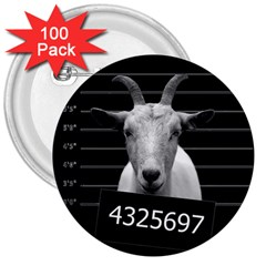 Criminal goat  3  Buttons (100 pack)