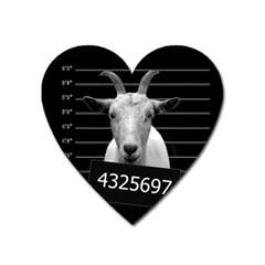 Criminal goat  Heart Magnet