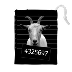 Criminal goat  Drawstring Pouches (Extra Large)