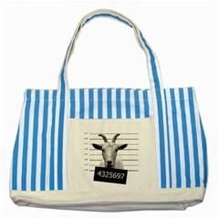 Criminal goat  Striped Blue Tote Bag