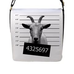 Criminal goat  Flap Messenger Bag (L)