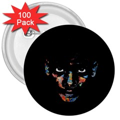 Wild child  3  Buttons (100 pack)