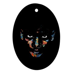 Wild child  Oval Ornament (Two Sides)