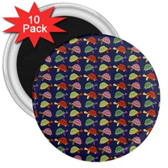 Turtle pattern 3  Magnets (10 pack)