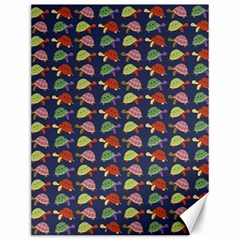 Turtle pattern Canvas 12  x 16