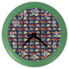 Turtle pattern Color Wall Clocks