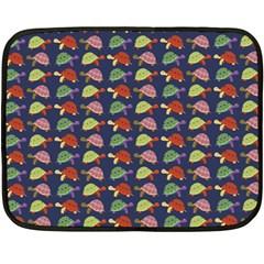 Turtle pattern Fleece Blanket (Mini)