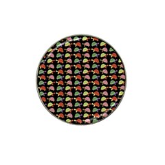 Turtle pattern Hat Clip Ball Marker (4 pack)