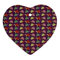 Turtle pattern Ornament (Heart)