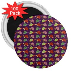 Turtle pattern 3  Magnets (100 pack)