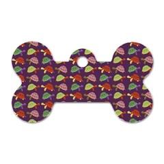 Turtle pattern Dog Tag Bone (One Side)