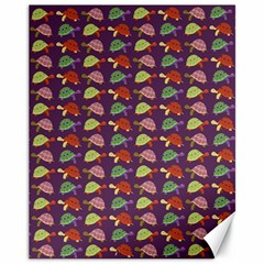 Turtle pattern Canvas 11  x 14