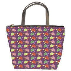Turtle pattern Bucket Bags