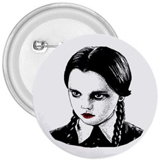 Wednesday Addams 3  Buttons