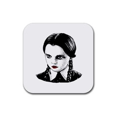 Wednesday Addams Rubber Square Coaster (4 pack)